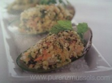 New Zealand Greenshell Mussels with Macadamia, Chive & Citrus Kelp Crust